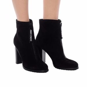NEW Jimmy Choo Brayden 95 BlackHeeled Ankle Boots